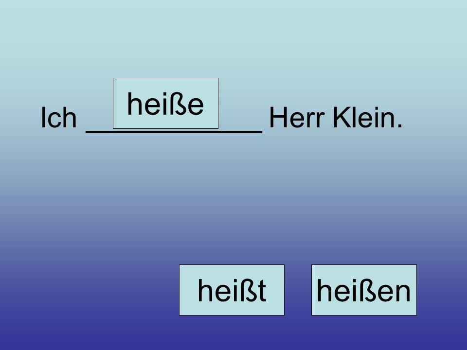 Ich ___________ Herr Klein. heiße heißtheißen