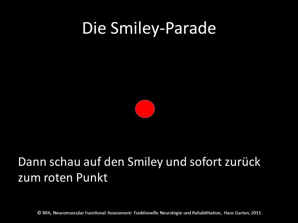 © NFA, Neuromuscular Functional Assessment: Funktionelle Neurologie und Rehabilitation, Hans Garten, 2011 Die Smiley-Parade Schau auf den roten Punkt