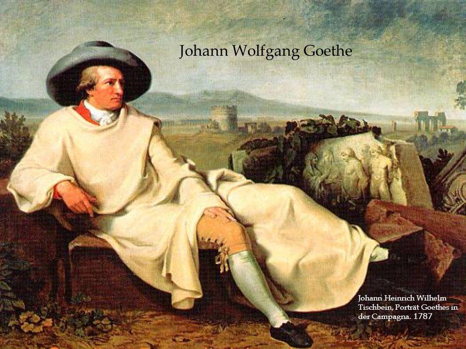 Johann Wolfgang Goethe Johann Heinrich Wilhelm Tischbein, Porträt Goethes in der Campagna. 1787