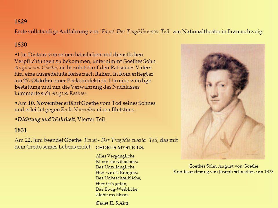1829 Erste vollständige Aufführung von
