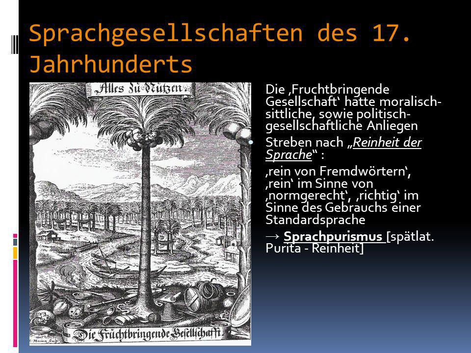 Die fruchtbringende Gesellschaft g Palmenbaum: Emblem der fruchtbringenden Gesellschaft - 890 Mitglieder - Gründungsmitglieder: Ludwig I. von Anhalt K
