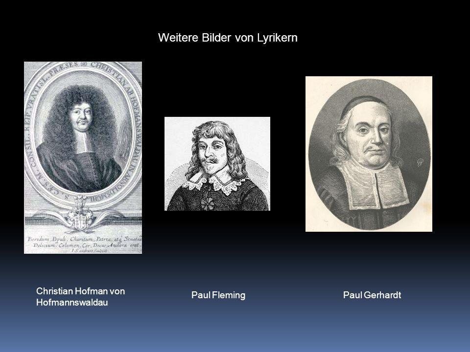 Bilder von Autoren Andreas GryphiusMartin OpitzDaniel Caspar von Lohenstein