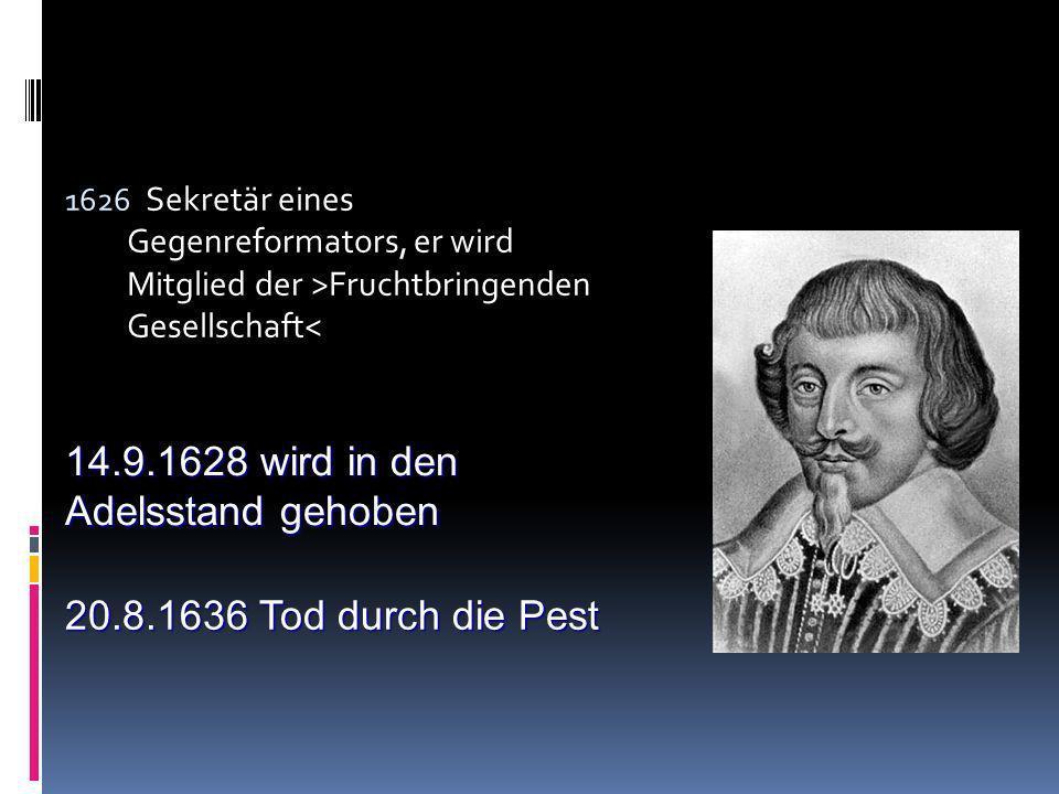 Barocklyrik: Martin Opitz Dichter und Begründer der schlesischen Dichterschule *23.12.1597 in Bunzlau Ab 1605 Lateinschule seiner Vaterstadt 1614 Wech