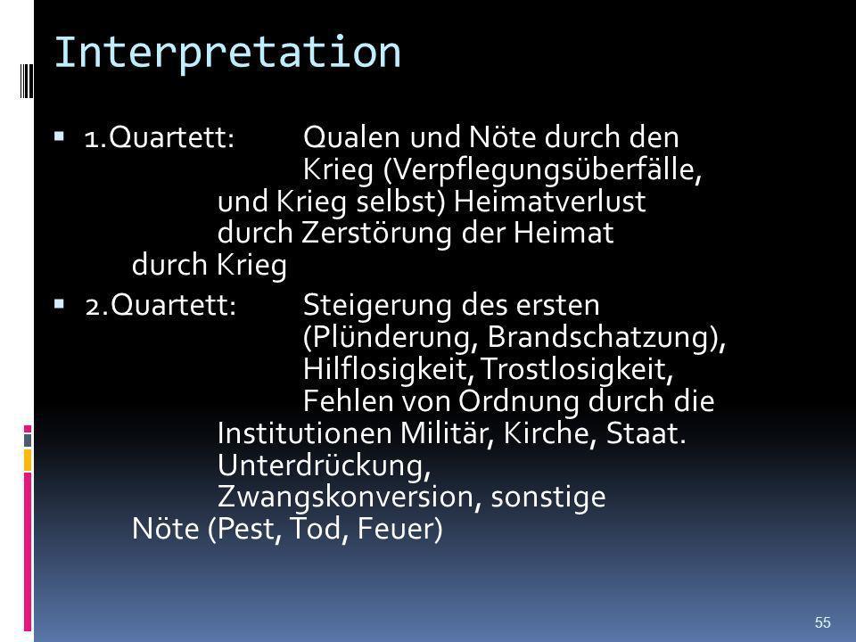 Formale Auffälligkeiten in Threnen des Vatterlandes Sonett (2 Quartette, zwei Terzette) Alexandriner (6-hebiger Jambus,Mittelzäsur) Abba, abba, ccd, e