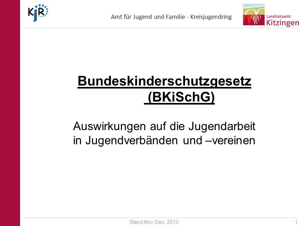 Amt für Jugend und Familie - Kreisjugendring Stand Nov./Dez. 201312