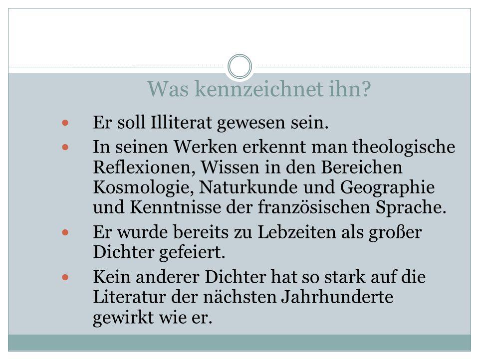 Wo lebte er? Geboren und begraben im damaligen Obereschenbach bei Ansbach (NW Bayern) heute Wolframs -Eschenbach Tat an zahlreichen Höfen Dienst: Beim