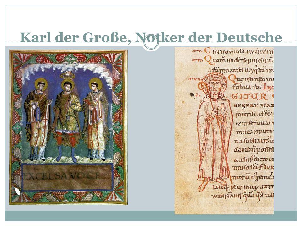 Eine Bibel für das Volk Karl der Große (742-814) vereinte zum ersten Mal in der Geschichte alle germanischen Stämme in einem Reich Er kümmerte sich um