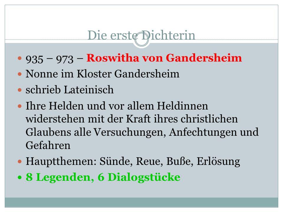 Otfried von Weißenburg Otfrid ist der erste, uns namentlich bekannte deutsche Dichter zwischen 863 und 871 auf Südrheinfränkisch verfasst Einteilung i