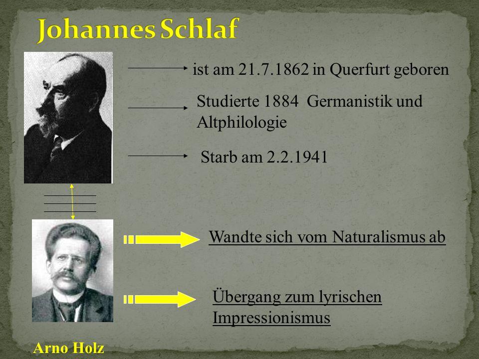 ( War ein wichtiger Vertreter des Naturalismus innerhalb der deutschen Literatur.) wurde am 13. Januar 1859 in Berlin geboren lebte als freier Schrift
