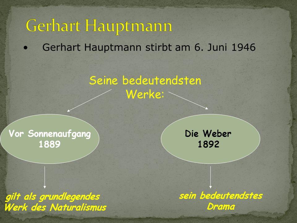 2 Hochzeiten 1885 Heirat mit Marie Thienemann 1894 Heirat mitMargarete Marschalk 1912 Nobelpreis für Literatur 1932 Repräsentant der deutschen Dichtun