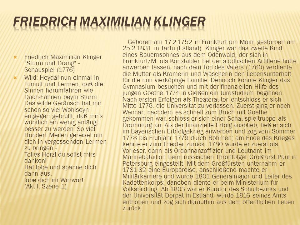 Friedrich Maximilian Klinger
