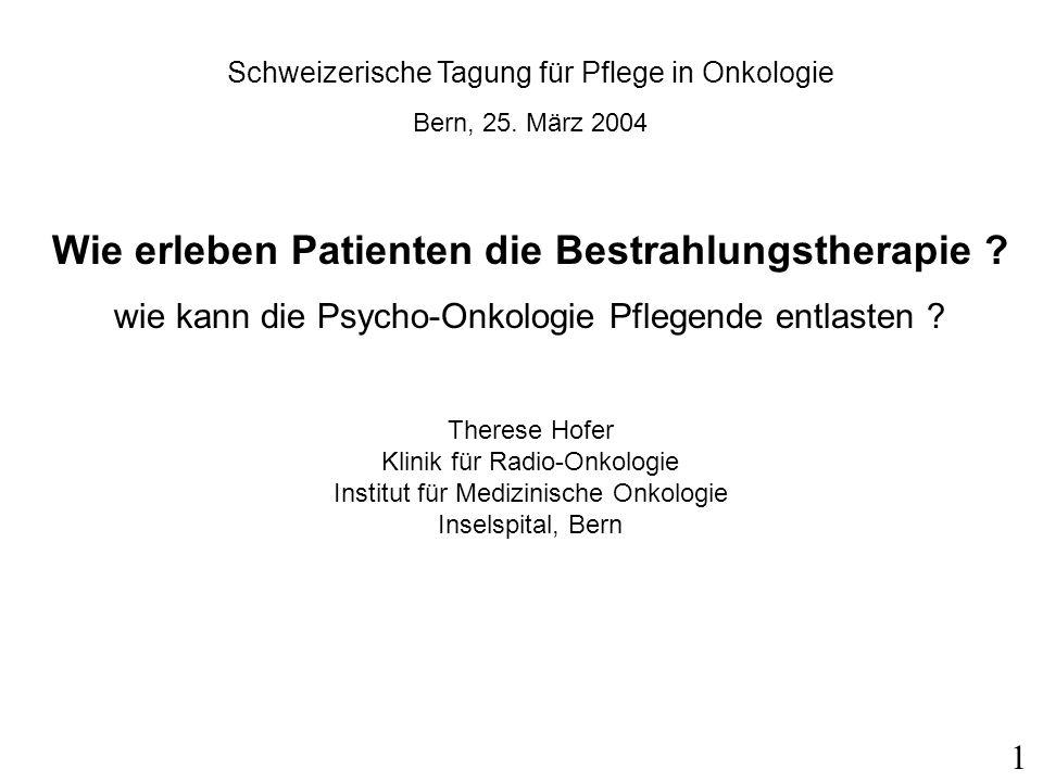 Schweizerische Tagung für Pflege in Onkologie Bern, 25.