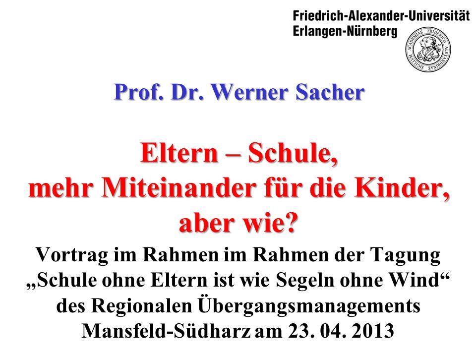 03. 05. 2012 Prof. Dr. Werner Sacher 4. Schluss
