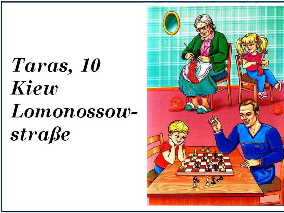 Übung 10. Разыграй диалоги по рисункам. Затем расскажи всё о себе и своей семье от имени главных героев рисунков.