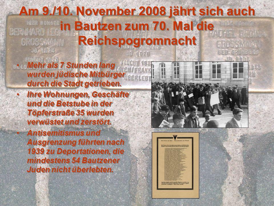 Schiller-Gymnasium & Stadtmuseum Bautzen erforschen gemeinsam: Spuren jüdischen Lebens in Bautzen, um es zu dokumentieren und sichtbar zu machen, an der Erweiterung der Erinnerungskultur der Bautzener Bürger zu diesem wichtigen Aspekt der Stadtgeschichte.