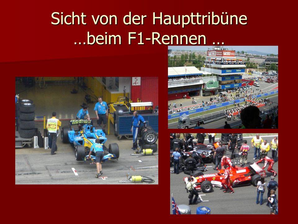 Sicht von der Haupttribüne …beim F1-Rennen …
