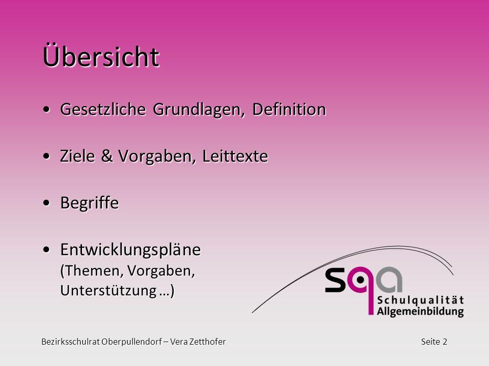 Bezirksschulrat Oberpullendorf – Vera ZetthoferSeite 13 Themen Anm.