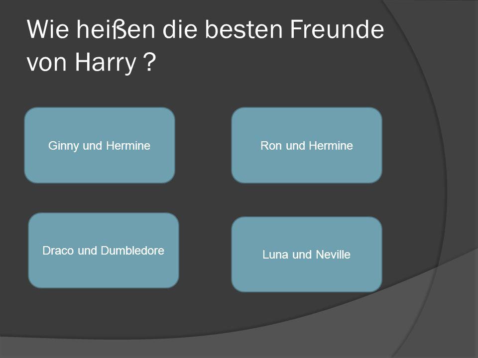 Wie heißen die besten Freunde von Harry .