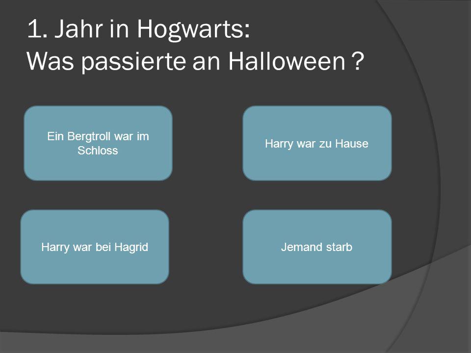 1.Jahr in Hogwarts: Was passierte an Halloween .