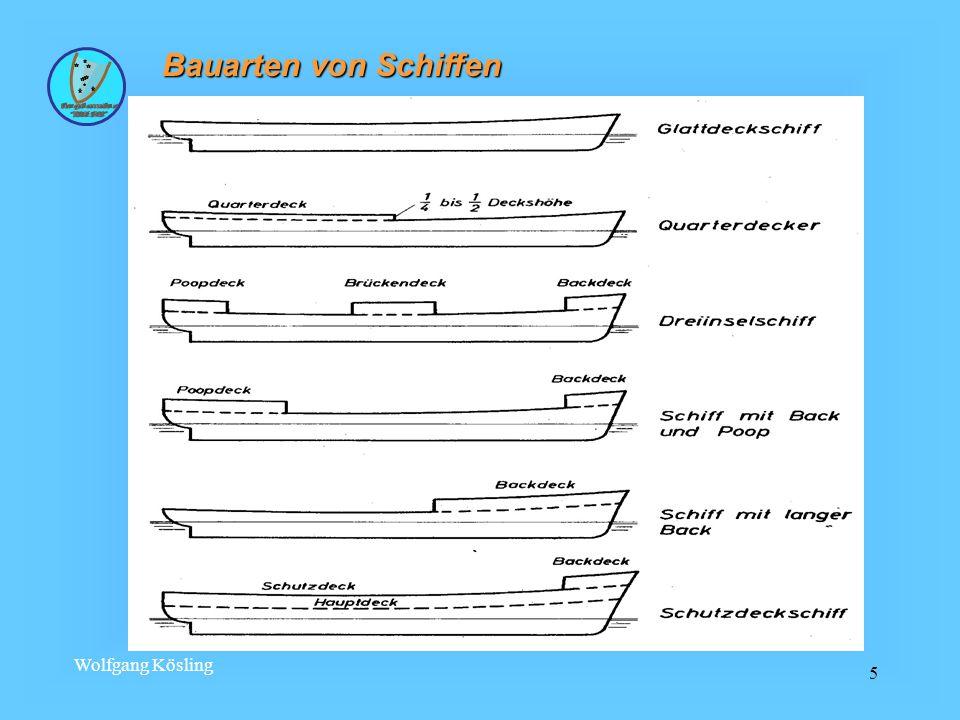 Wolfgang Kösling 5 Bauarten von Schiffen