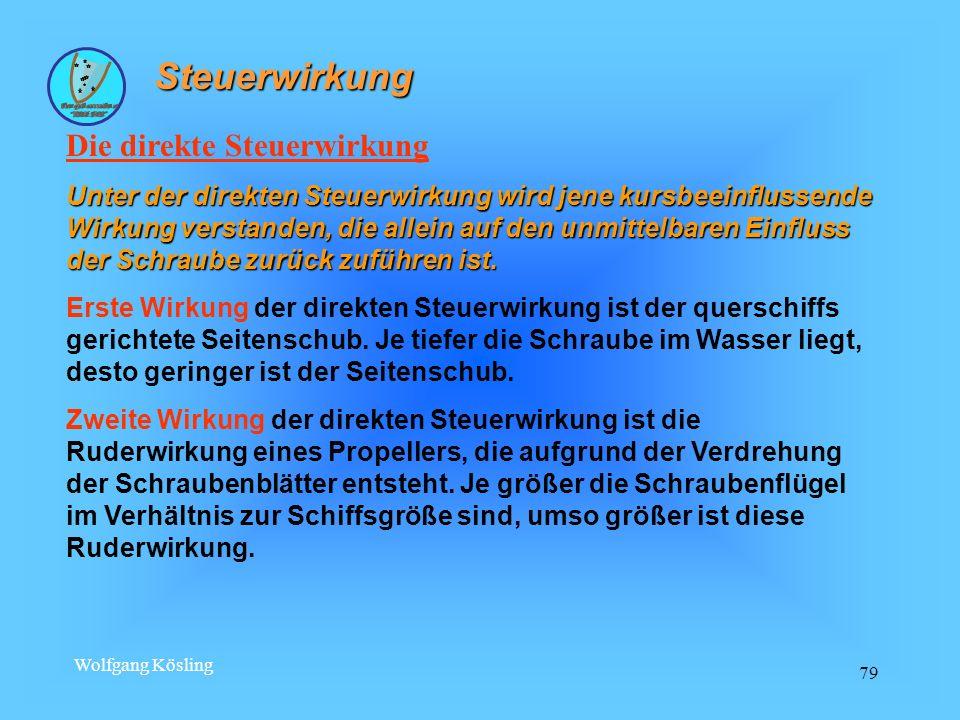 Wolfgang Kösling 79 Steuerwirkung Die direkte Steuerwirkung Unter der direkten Steuerwirkung wird jene kursbeeinflussende Wirkung verstanden, die alle