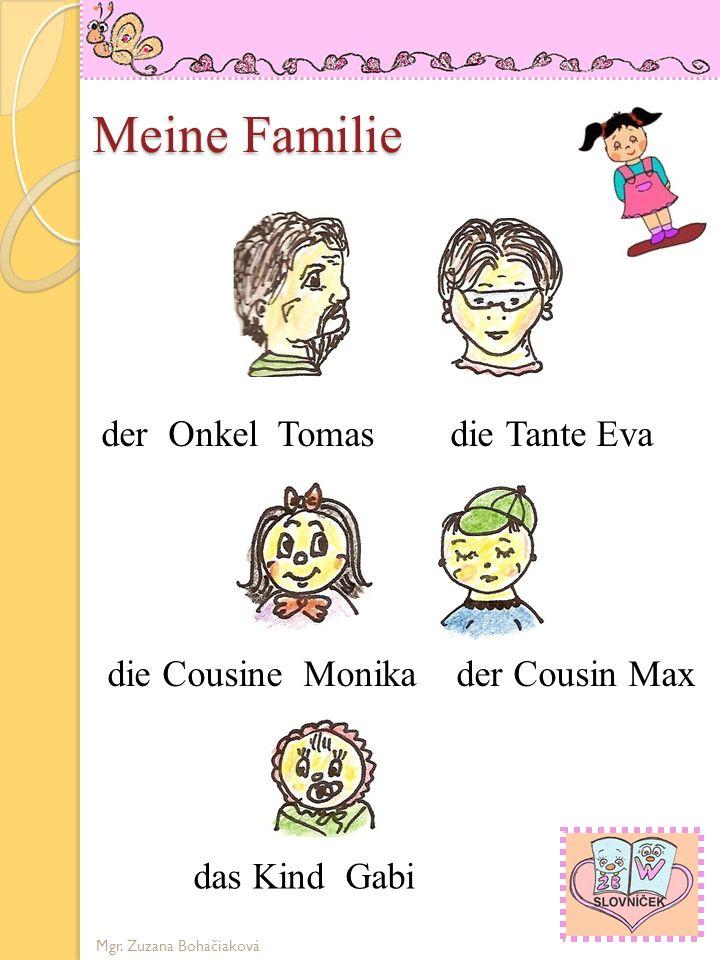 Meine Familie die Groβmutter Helga der Groβvater Paul OMA OPA der Vater Peter die Mutter Julia Mgr. Zuzana Bohačiaková die Schwester der Bruder Heidi