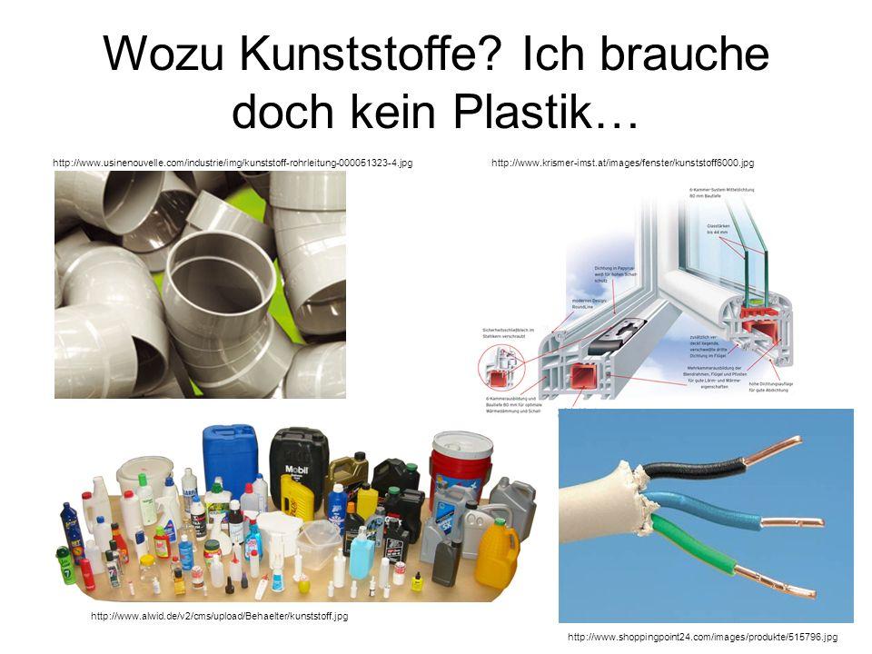 Wozu Kunststoffe? Ich brauche doch kein Plastik… http://www.usinenouvelle.com/industrie/img/kunststoff-rohrleitung-000051323-4.jpg http://www.krismer-