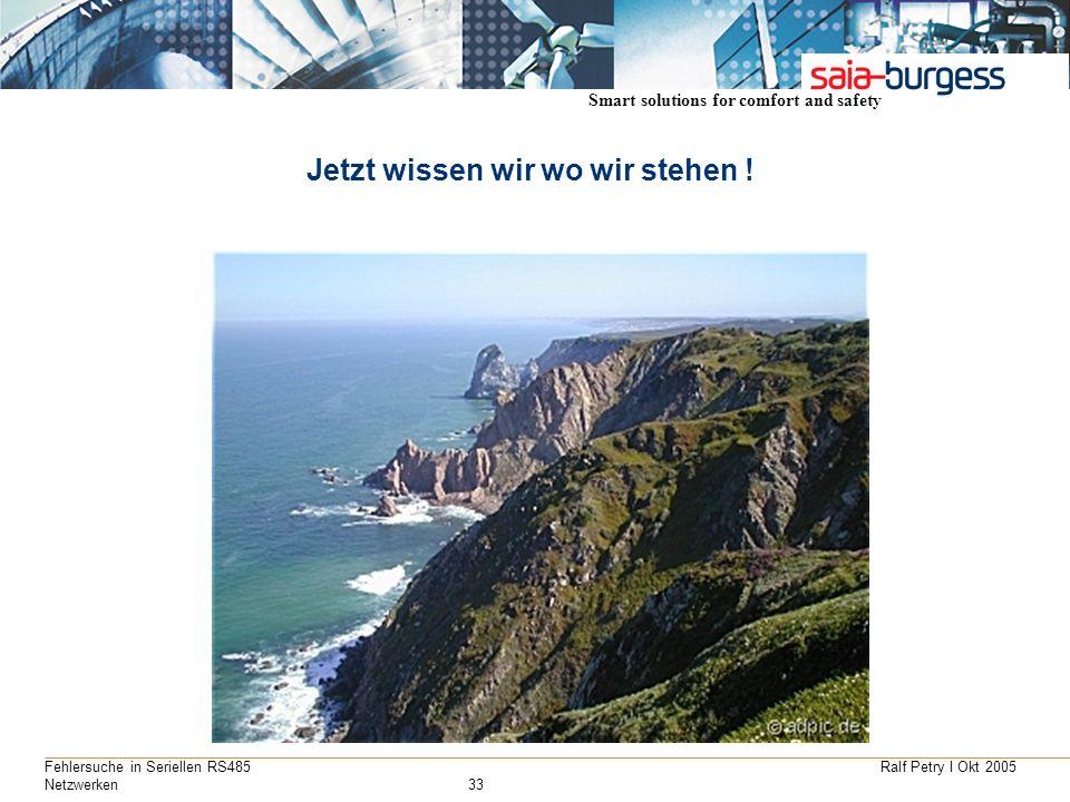 Smart solutions for comfort and safety Ralf Petry I Okt 2005Fehlersuche in Seriellen RS485 Netzwerken33 Jetzt wissen wir wo wir stehen !