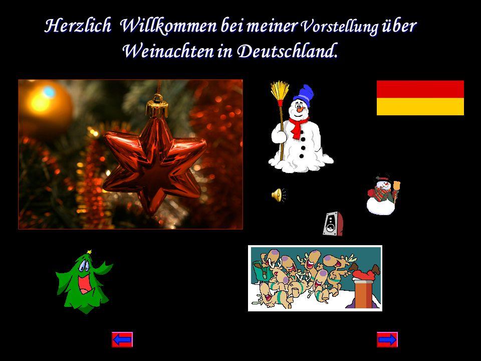 Herzlich Willkommen bei meiner Vorstellung über Weinachten in Deutschland.