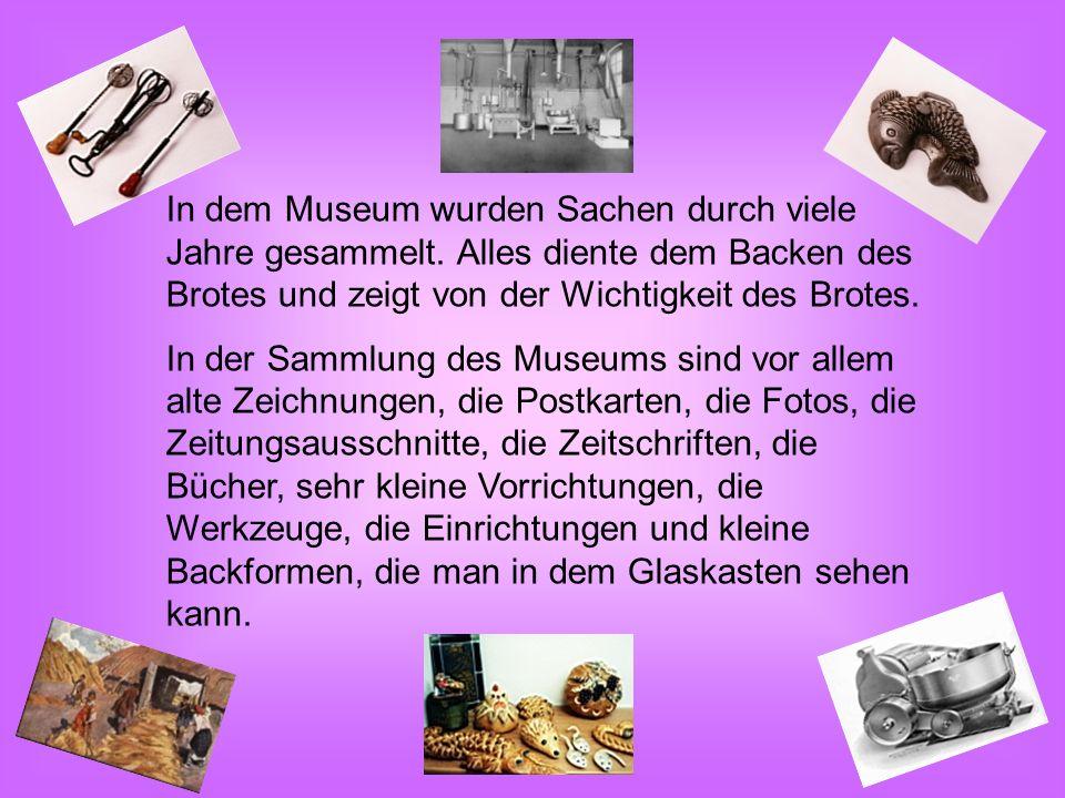 In dem Museum wurden Sachen durch viele Jahre gesammelt.