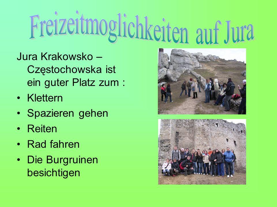 Jura Krakowsko – Częstochowska ist ein guter Platz zum : Klettern Spazieren gehen Reiten Rad fahren Die Burgruinen besichtigen
