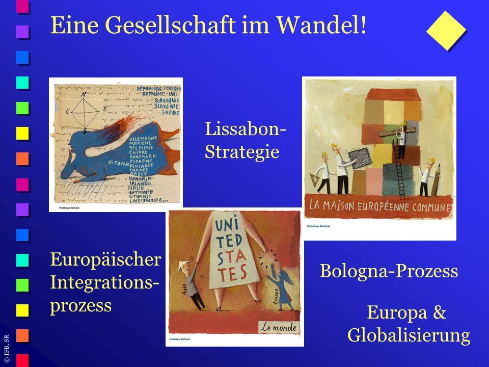 © IFB, SR Eine Gesellschaft im Wandel! Lissabon- Strategie Bologna-Prozess Europa & Globalisierung Europäischer Integrations- prozess