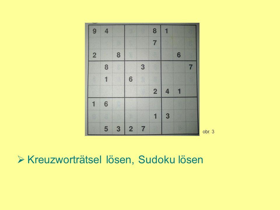 Kreuzworträtsel lösen, Sudoku lösen obr. 3