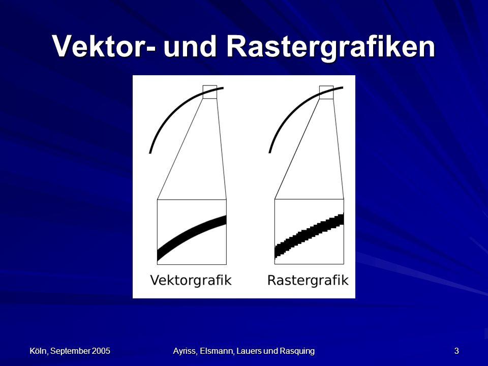 Köln, September 2005 Ayriss, Elsmann, Lauers und Rasquing 3 Vektor- und Rastergrafiken