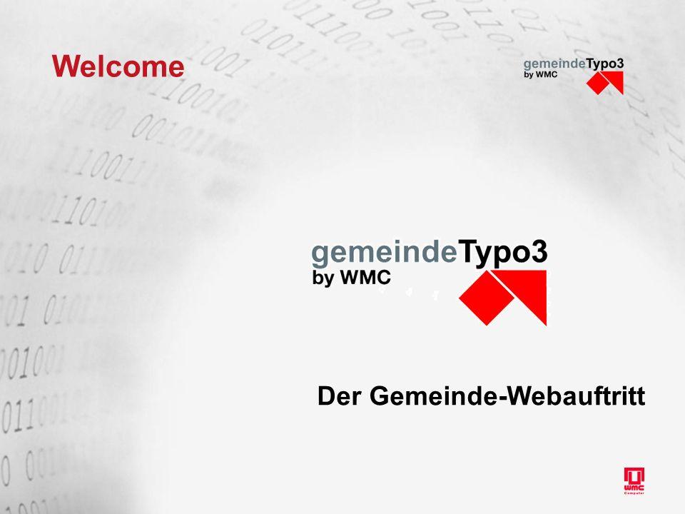 Welcome Der Gemeinde-Webauftritt