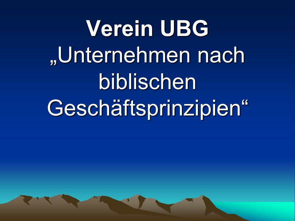 Verein UBG Unternehmen nach biblischen Geschäftsprinzipien