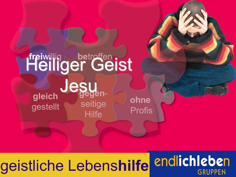 freiwilligbetroffen gleich gestellt gegen- seitige Hilfe ohne Profis Heiliger Geist Jesu geistliche Lebenshilfe