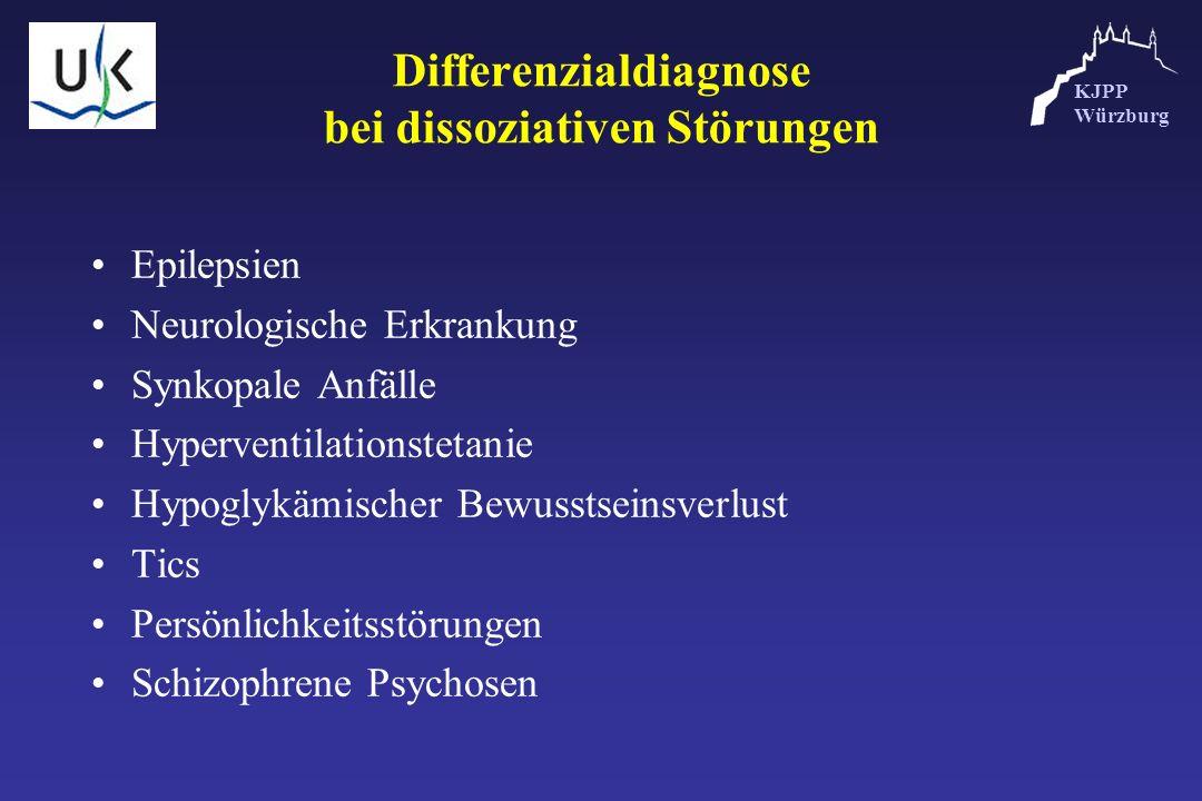 KJPP Würzburg Differenzialdiagnose bei dissoziativen Störungen Epilepsien Neurologische Erkrankung Synkopale Anfälle Hyperventilationstetanie Hypoglyk