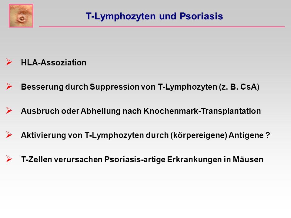 HLA-Assoziation Besserung durch Suppression von T-Lymphozyten (z.