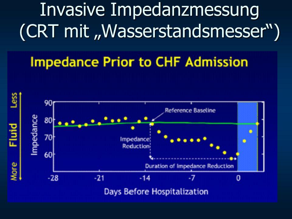 Invasive Impedanzmessung (CRT mit Wasserstandsmesser)