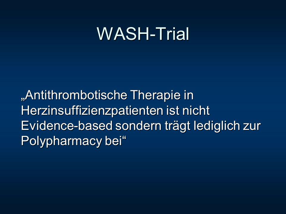 WASH-Trial Antithrombotische Therapie in Herzinsuffizienzpatienten ist nicht Evidence-based sondern trägt lediglich zur Polypharmacy bei
