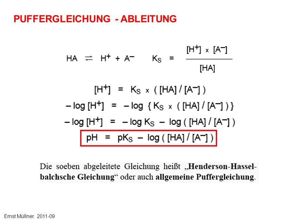 PUFFERGLEICHUNG - ABLEITUNG Ernst Müllner 2011-09