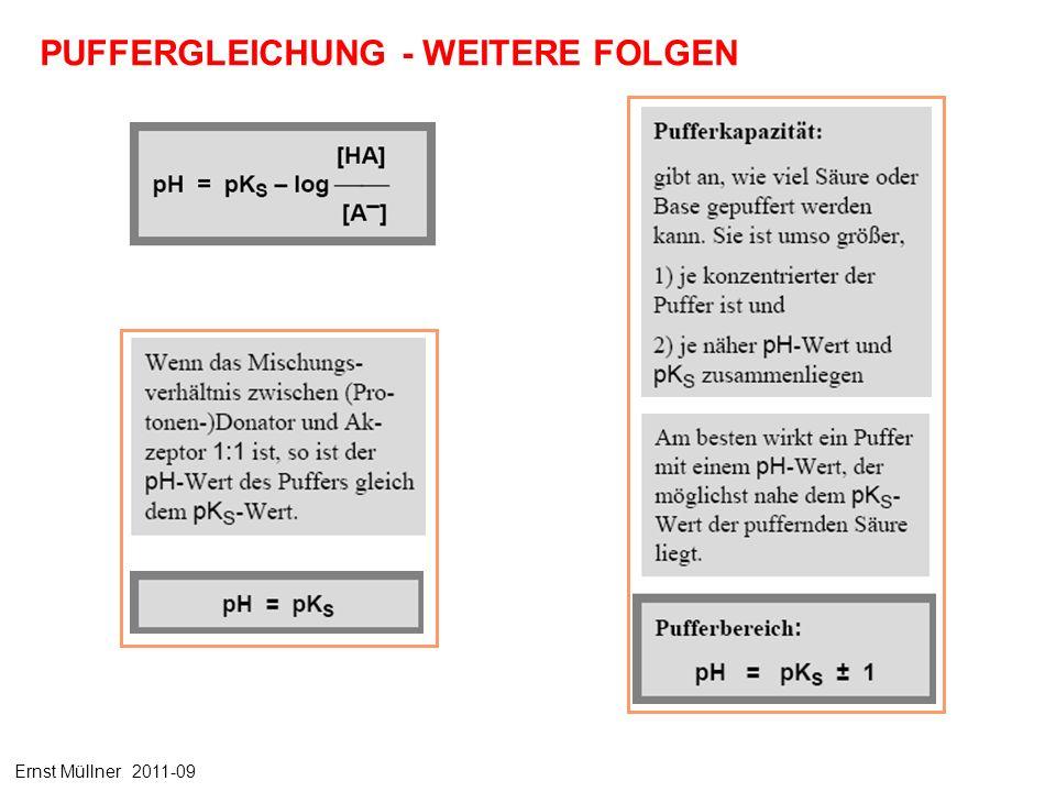 PUFFERGLEICHUNG - WEITERE FOLGEN Ernst Müllner 2011-09