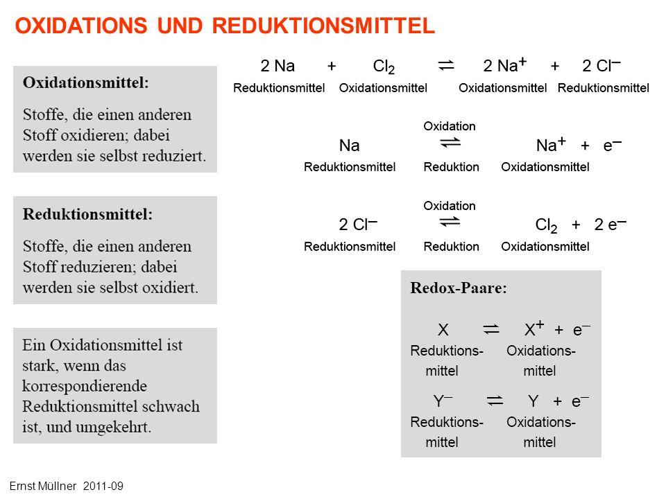 OXIDATIONS UND REDUKTIONSMITTEL Ernst Müllner 2011-09