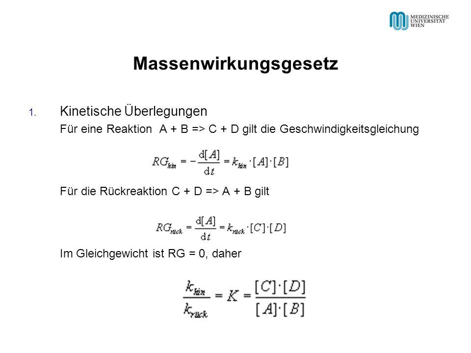 Massenwirkungsgesetz 1.