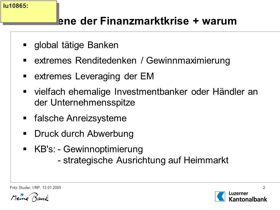 Fritz Studer, VRP, 13.01.20092 1.