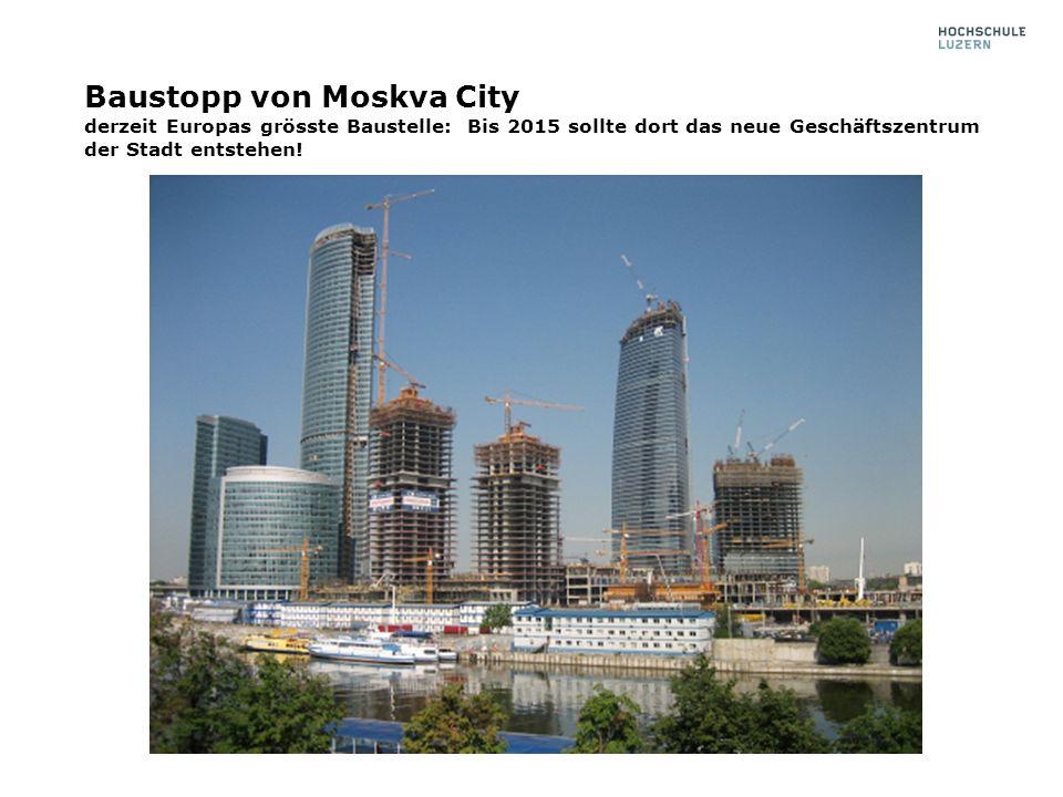 Baustopp von Moskva City derzeit Europas grösste Baustelle: Bis 2015 sollte dort das neue Geschäftszentrum der Stadt entstehen!