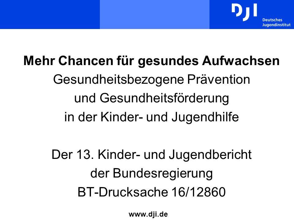 2 www.dji.de / permien@dji.de Abläufe Bearbeitungszeitraum: 24.09.2007-14.01.2009 Kabinettsbefassung: 29.04.2009 Befassung im Deutschen Bundestag: fraglich Vorstellung im Bundestags-Ausschuss FSFJ: 27.05.2009 Abrufbar über www.dji.de (Startseite undwww.dji.de DJI-Projekt: Geschäftsführung 13.