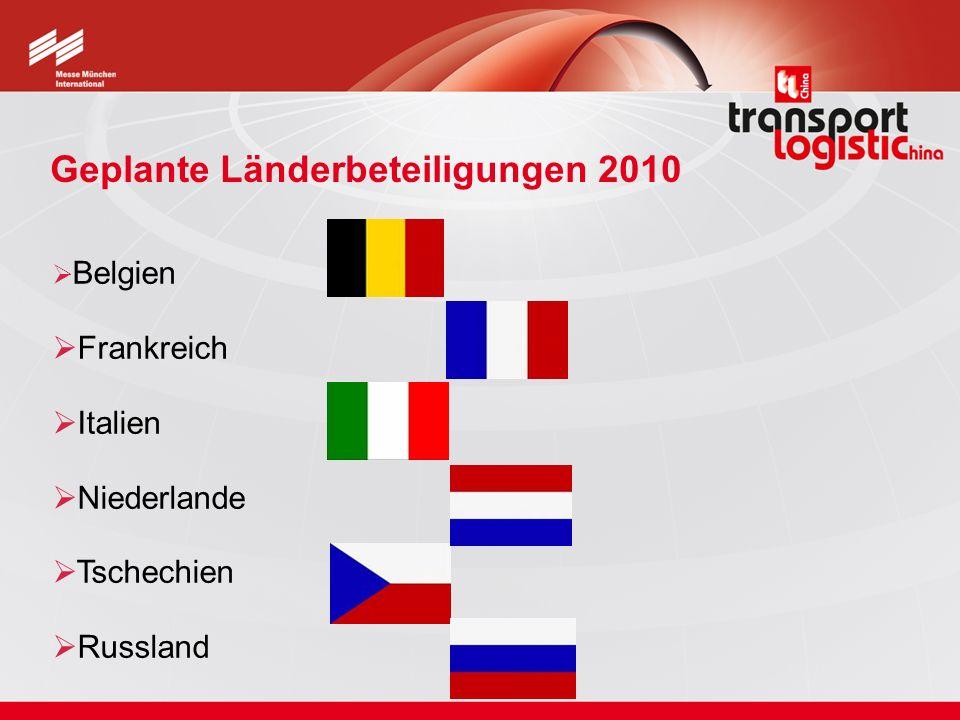Geplante Länderbeteiligungen 2010 Belgien Frankreich Italien Niederlande Tschechien Russland