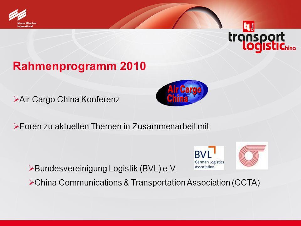 Air Cargo China Konferenz Foren zu aktuellen Themen in Zusammenarbeit mit Bundesvereinigung Logistik (BVL) e.V. China Communications & Transportation